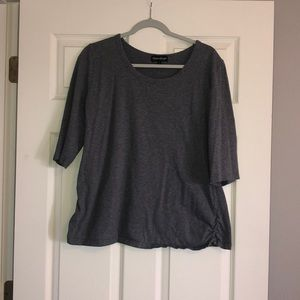 Gray Maternity Top